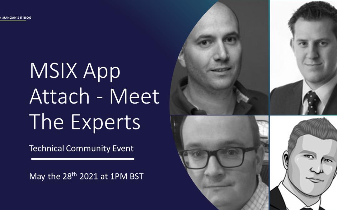 MSIX App Attach: Meet The Experts